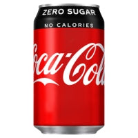 Coke Zero cans 24x330ml - Bettaveg