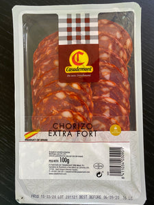 Sliced Chorizo 100gm - Bettaveg