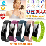 ID15 Fitness Smartwatch with Heart Monitor and Steps counter
