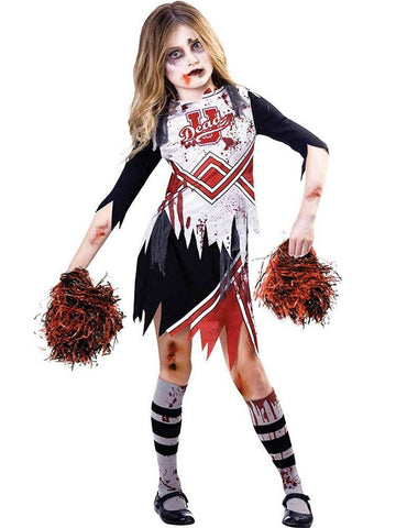 Cheerleader Zombie Kids Halloween Costume