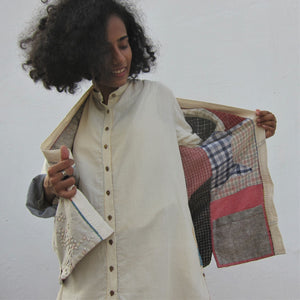 """Sumi's Tikdi Melurai"" - Reversible Jacket with completely different look on both side"