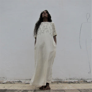 """Heena's Aari Kaftan"" - Comfort fit two pocket full length Kaftan"
