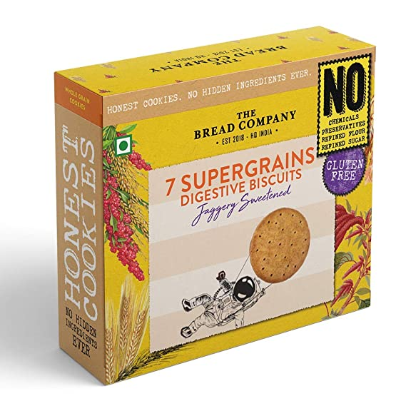 Seven supergrains digestive biscuits (Jaggery Sweetened) - 140 gms