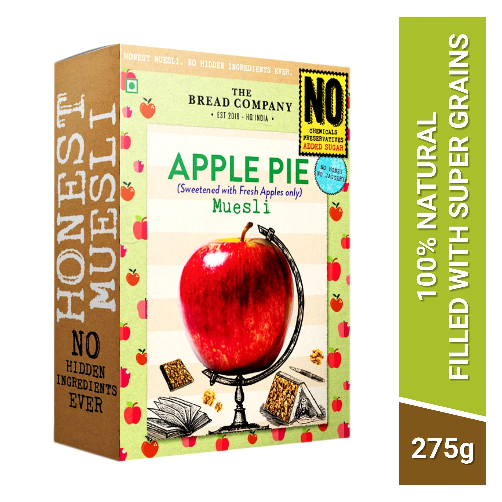 Sugarfree Apple pie muesli (Sweetened with Apples only) - 275 gms