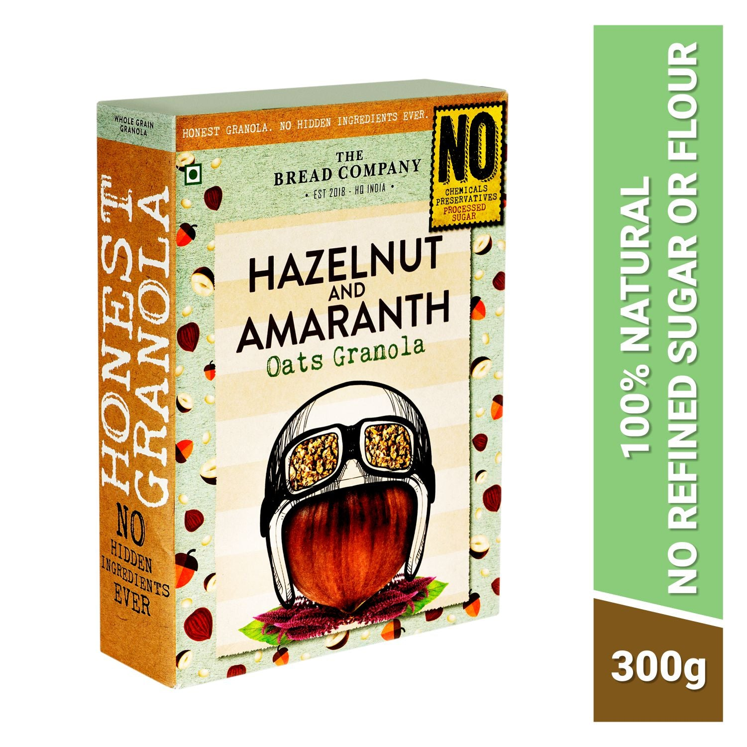 Hazelnut and Amaranth Oats granola - 300 gms