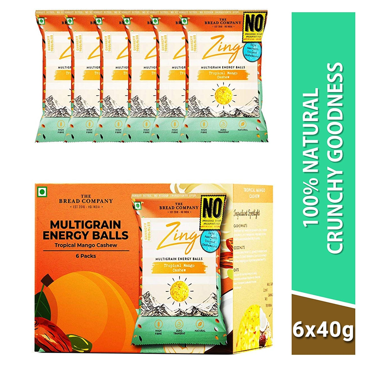 Tropical mango cashew energy balls- 180 gms