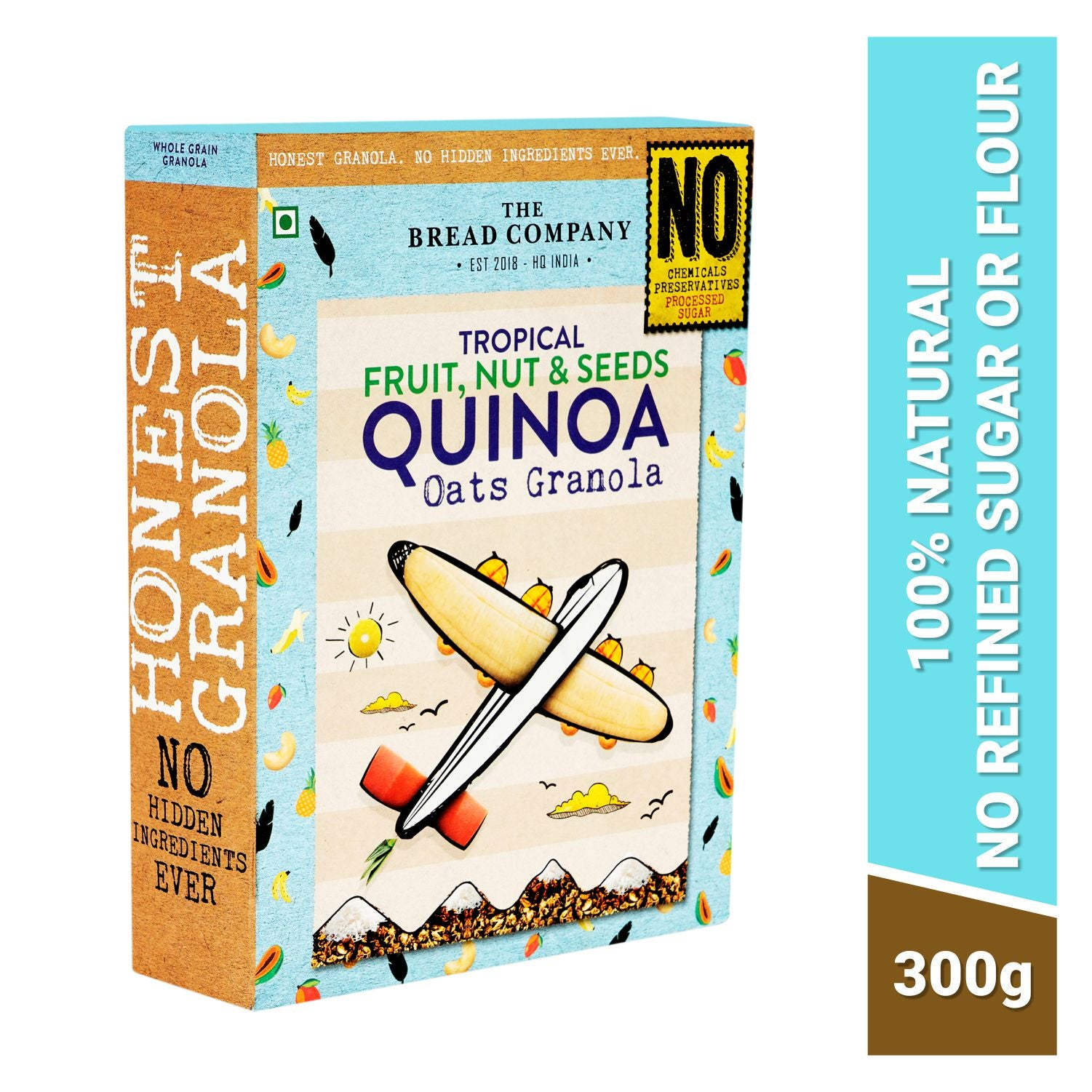 Tropical fruit nut and seeds Quinoa Oats Granola  - 300 gms