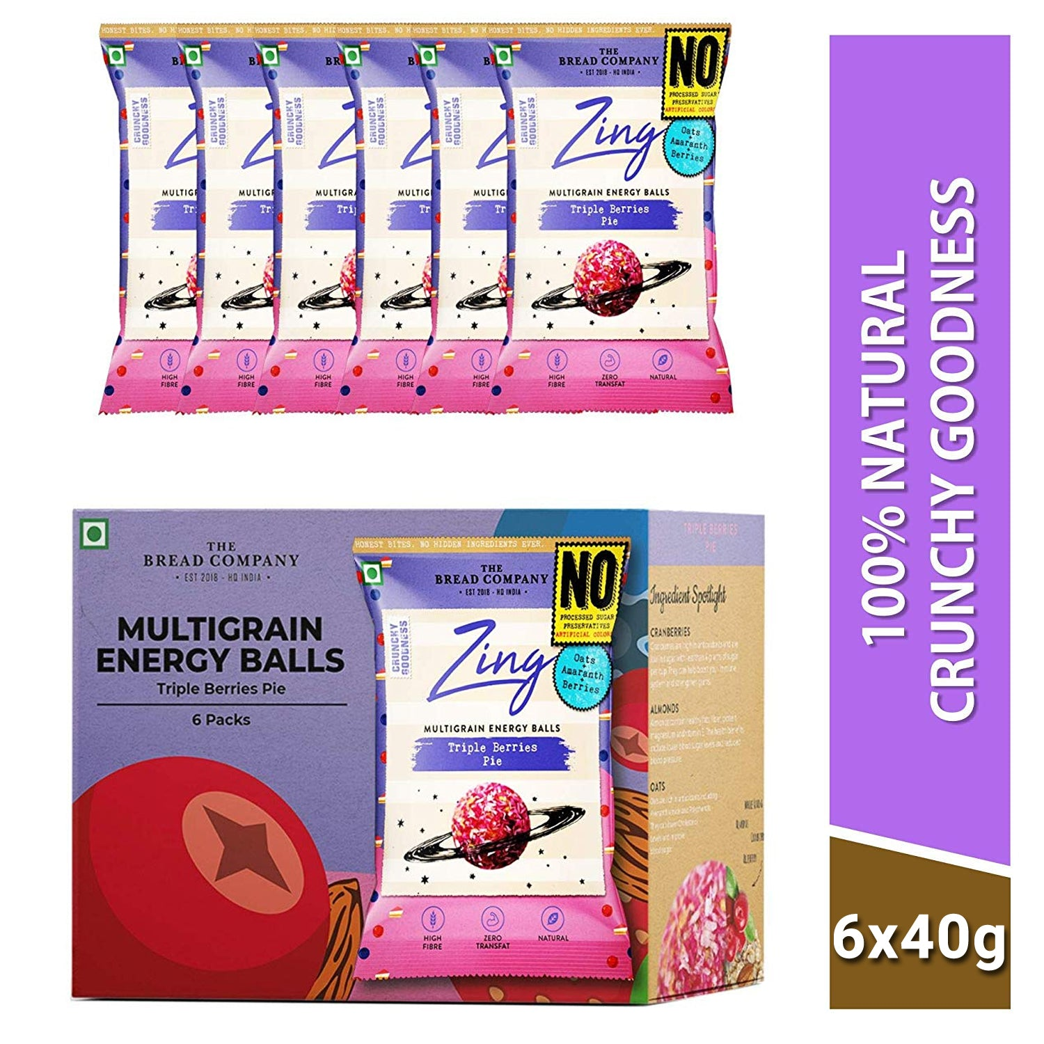 Triple berries pie energy balls-180 gms