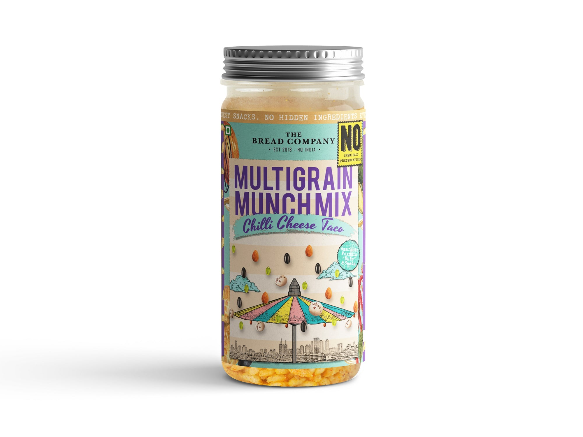 Chilli cheese taco Multigrain Munch mix - 120 gms
