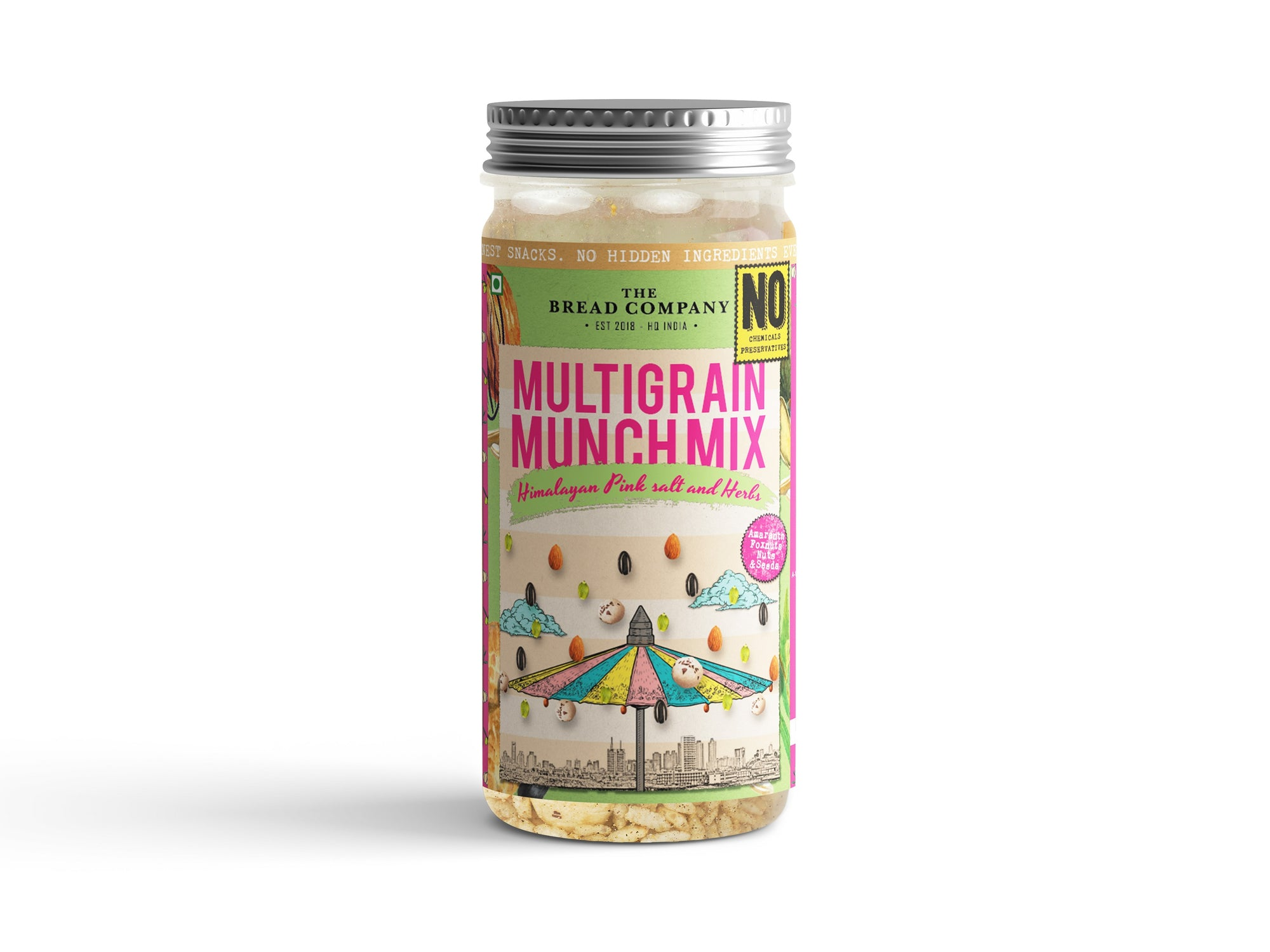 Himalayan Pink salt and herbs Multigrain munch mix  - 120 gms