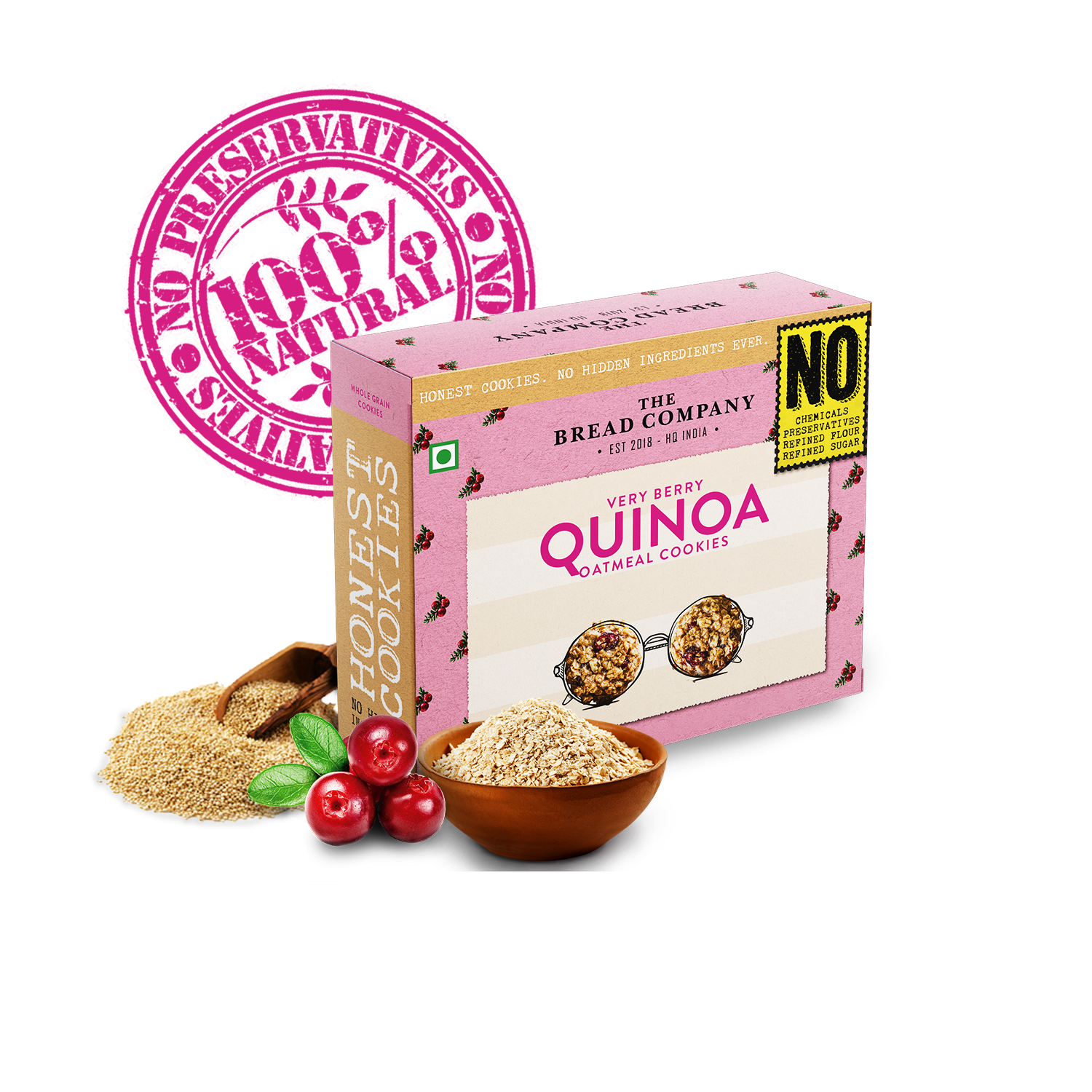 Very Berry Quinoa Oatmeal cookies - 150 gms