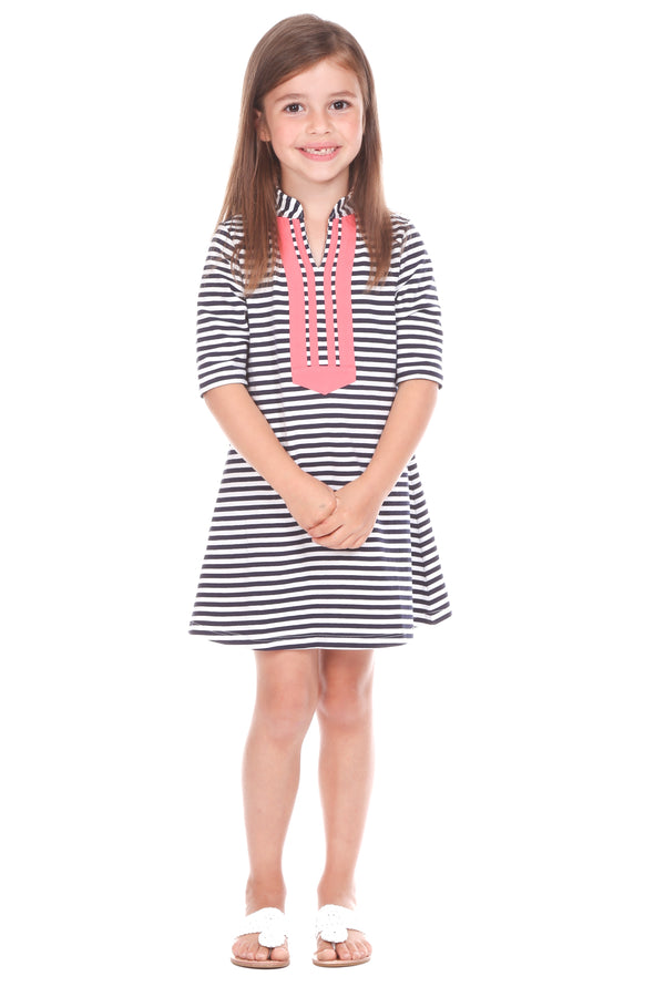 Spring lake dress/ navy stripe