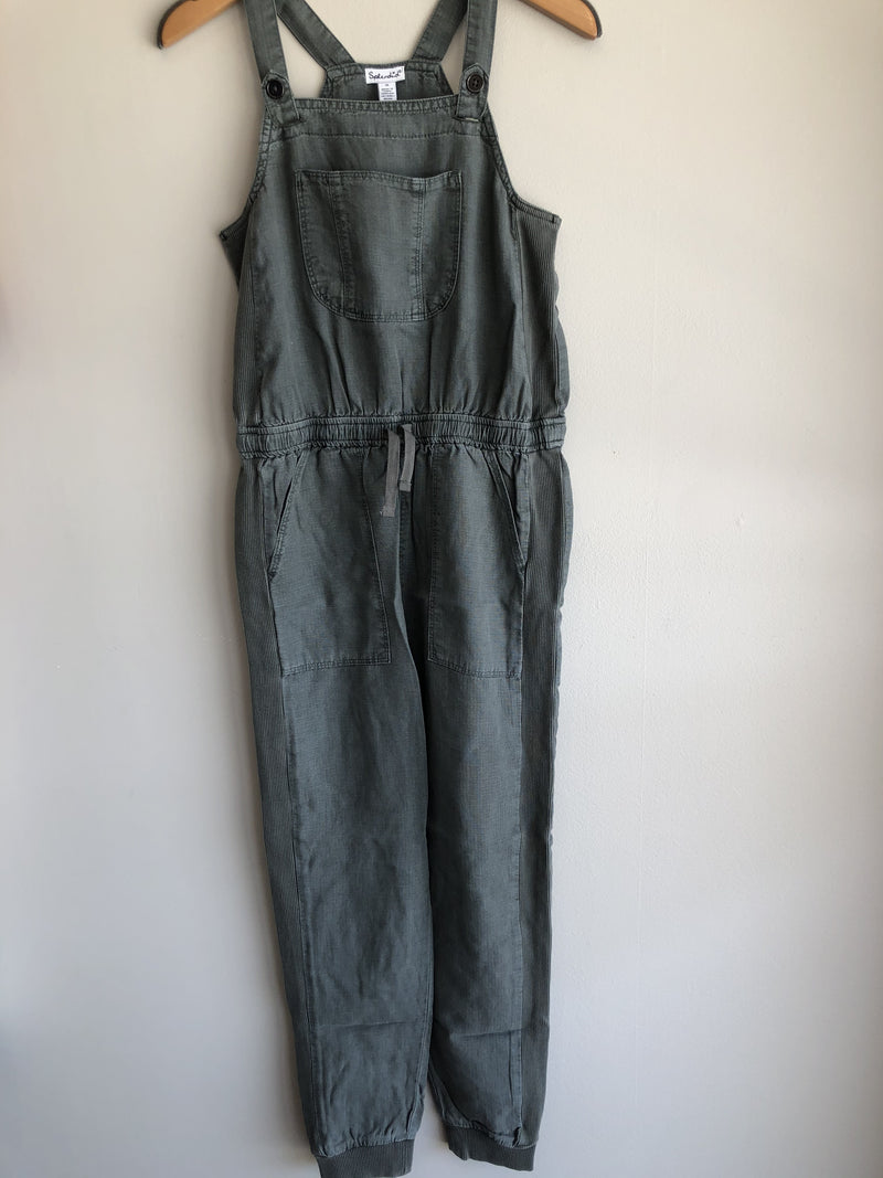 woven overall/gray