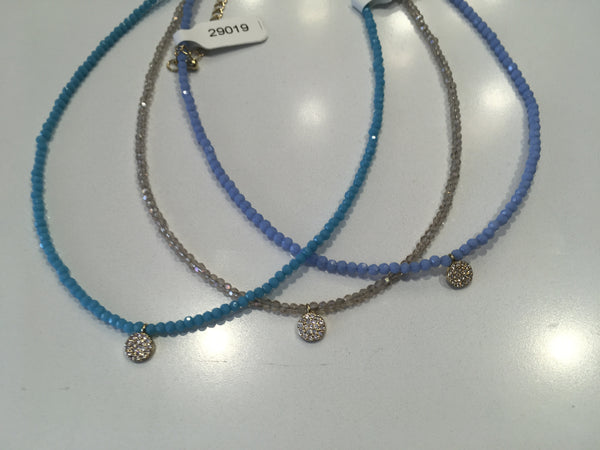 GLITTER CHOKER WITH DISK