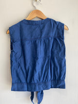 UTILITY POCKET TIEFRONT TOP