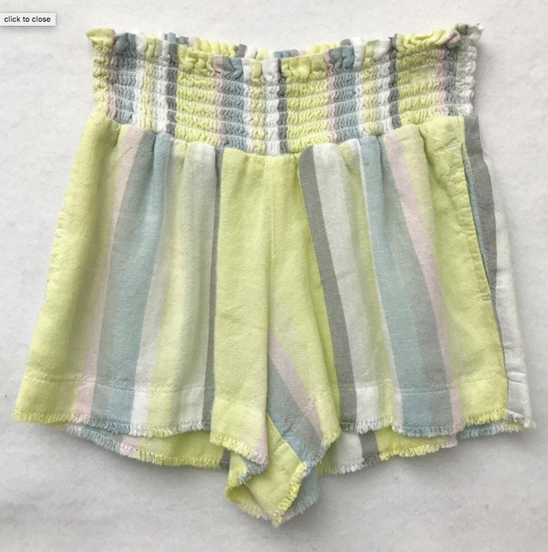 JR SMOCKED FRAY SHORT
