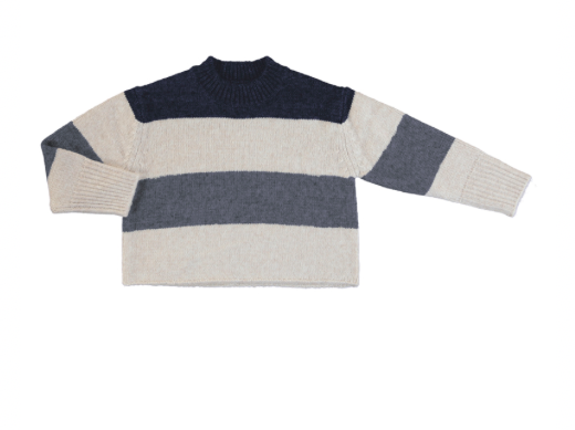 color block jersey sweater
