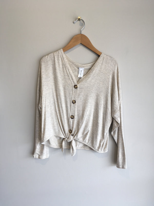 V-NECK BUTTON DOWN CARDI