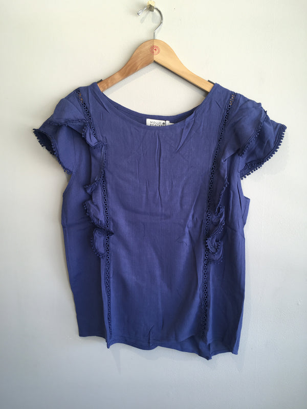 lace ruffle sleeve tee JR