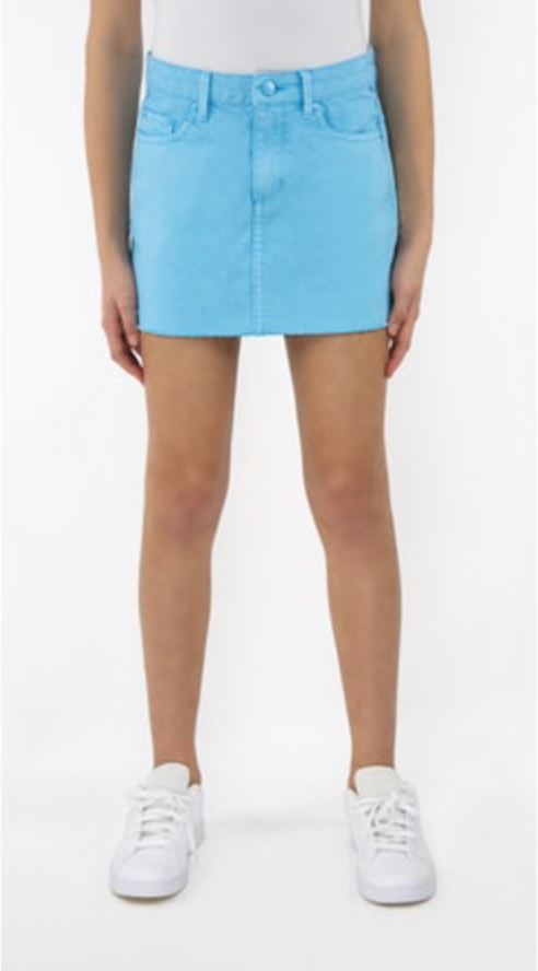 LISA BASIC MINI SKIRT/BLUE