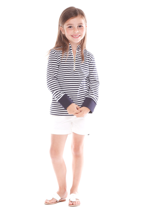 piper pullover navy stripe