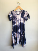 asymetrical tie dye dress