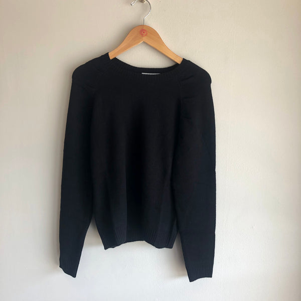 puff sleeve raglan sweater