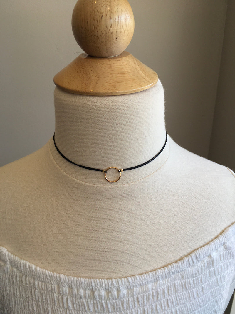 mini ring choker