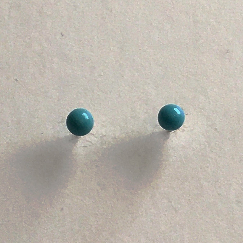 turquoise 4mm earrings