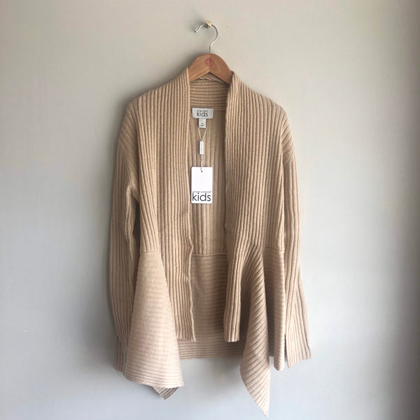 rib drape sweater