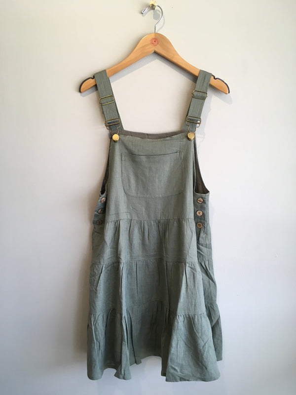OVERALL TIERED DRESS