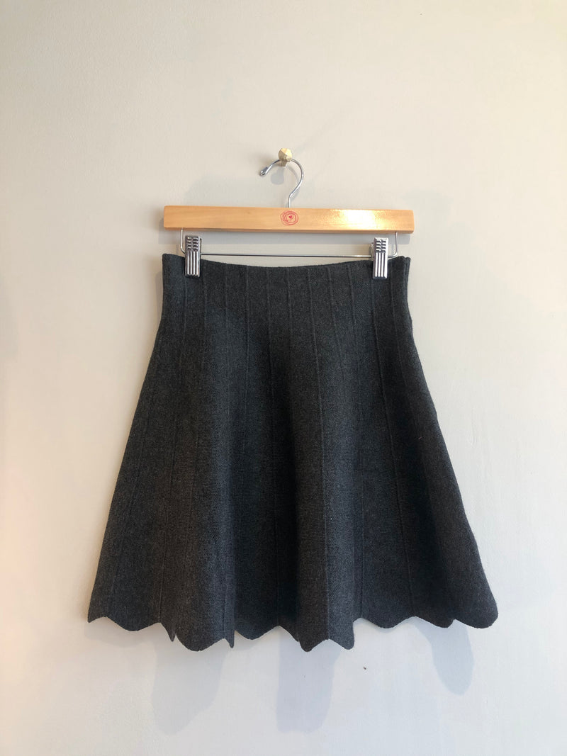 grey knit skirt