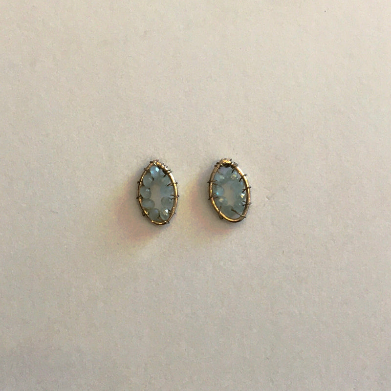 MARQUISE PAVE BEAD EARRING