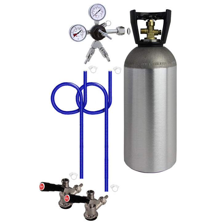 Dual Tap Direct Draw Kit with 10 lb. CO2 Tank