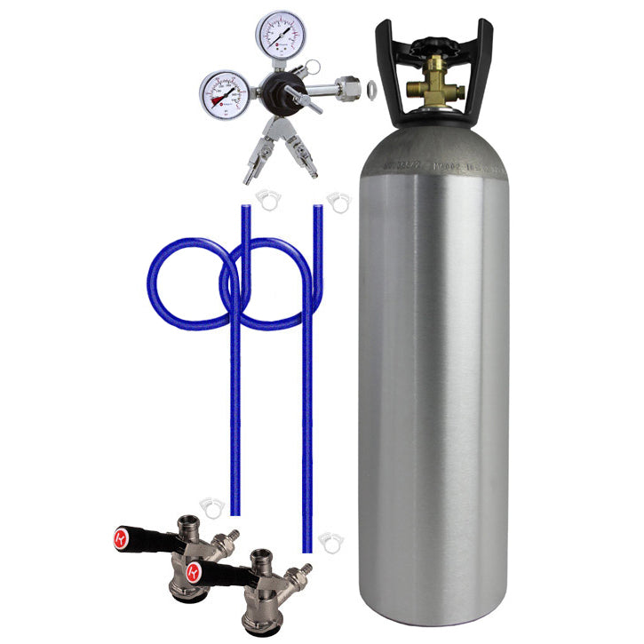 Dual Tap Direct Draw Kit with 15 lb. CO2 Tank
