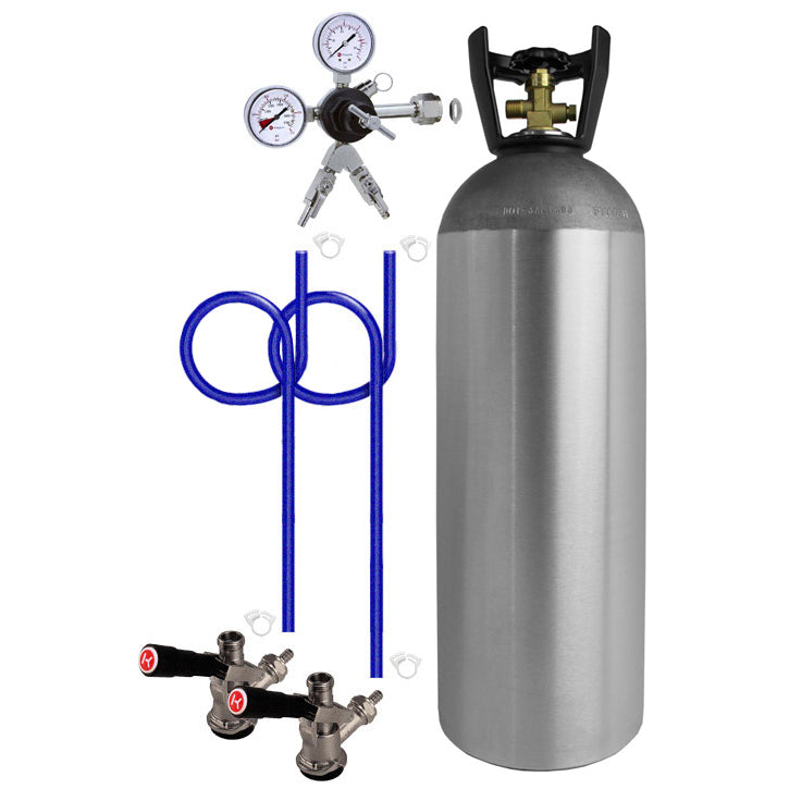 Dual Tap Direct Draw Kit with 20 lb. CO2 Tank