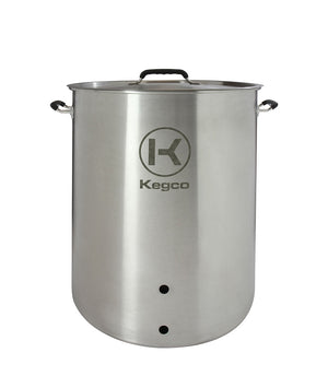 30 Gallon Brew Kettle with Plug and 2-Piece Ball Valve