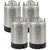 NSF Approved 2.5 Gallon Ball Lock Keg with Strap Handle - Set of 4