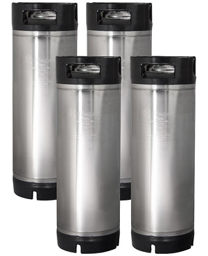 5 Gallon Ball Lock Keg with Rubber Handle - Set of 4