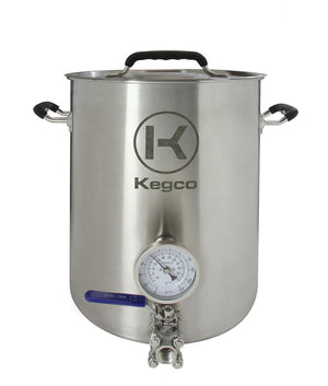 6 Gallon Brew Kettle with Thermometer and 3-Piece Ball Valve