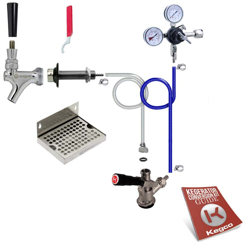 Deluxe Single Tap Door Mount Kegerator Conversion Kit without Tank