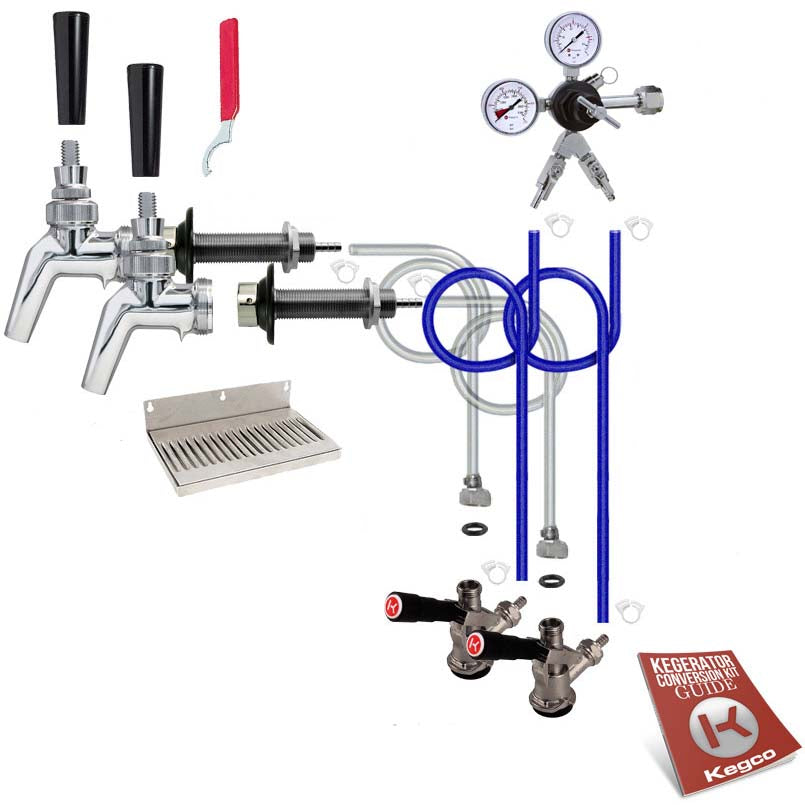 Premium Dual Tap Door Mount Kegerator Conversion Kit without Tank