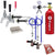 Premium Dual Tap Door Mount Kegerator Conversion Kit with 5 lb. CO2 Tank