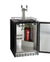 "24"" Wide Dual Tap Stainless Steel BuiltIn Left Hinge Kegerator with Kit"