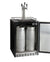 "24"" Wide Triple Tap Stainless Steel Built-In Right Hinge Kegerator with Kit"