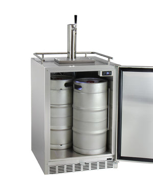Full Size Digital Outdoor Undercounter Left Hinge Kegerator with X-CLUSIVE Premium Direct Draw Kit