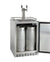 "24"" Wide Dual Tap All Stainless Steel Outdoor BuiltIn Right Hinge Kegerator with Kit"