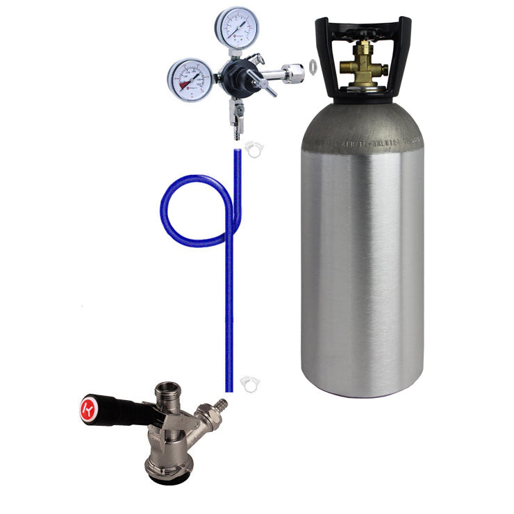 Single Tap Direct Draw Kit with 10 lb. CO2 Tank