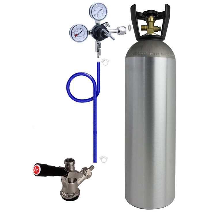 Single Tap Direct Draw Kit with 15 lb. CO2 Tank