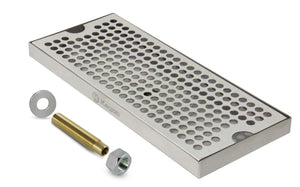 "12"" Stainless Steel Surface Mount Drain Tray, with Drain"